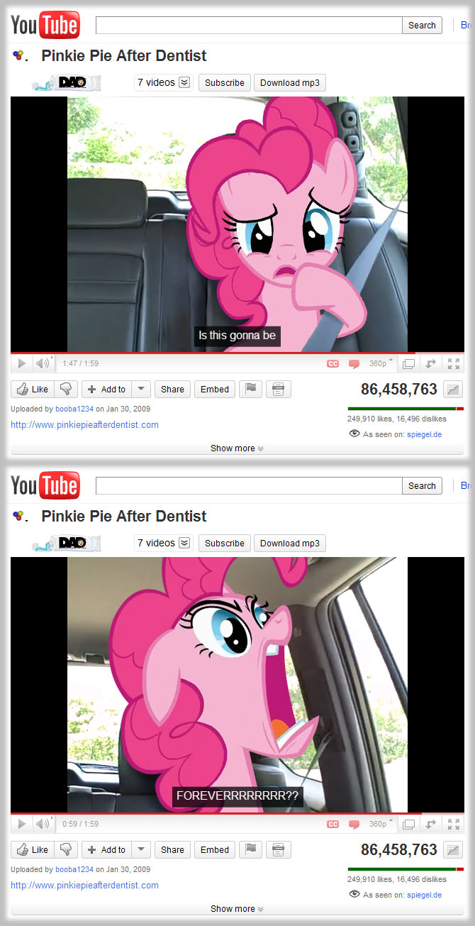 Pinkie Pie after dentist