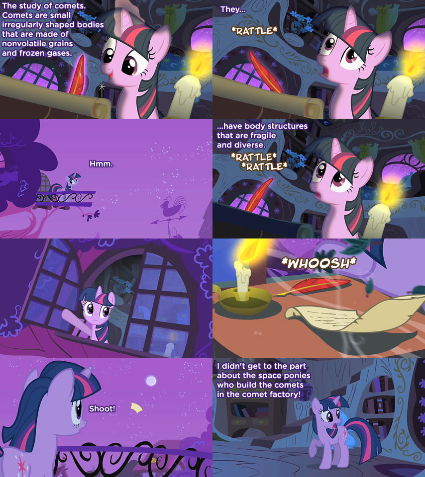Twilight writes about comets